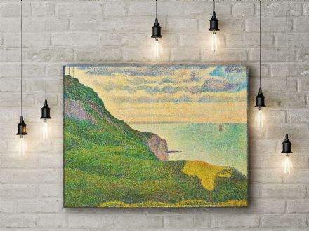 Seurat: Seascape at Port-en-Bessin, Normandy. Fine Art Canvas.